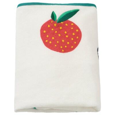 VÄDRA Overtræk puslepude, mønster med frugt/grøntsager, 74x48 cm