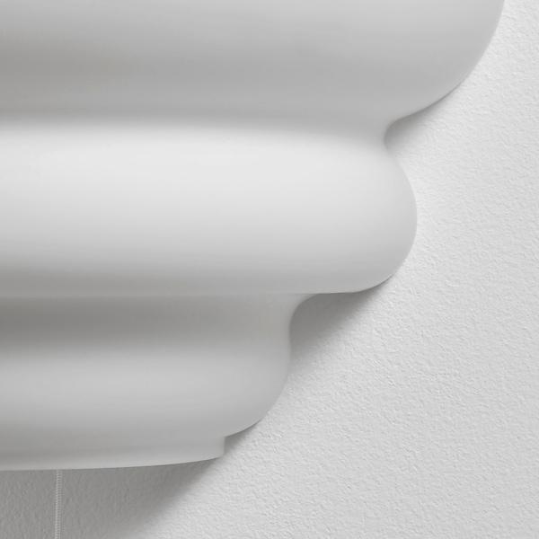 VÅGLÄNGD Væglampe, frostet glas hvid