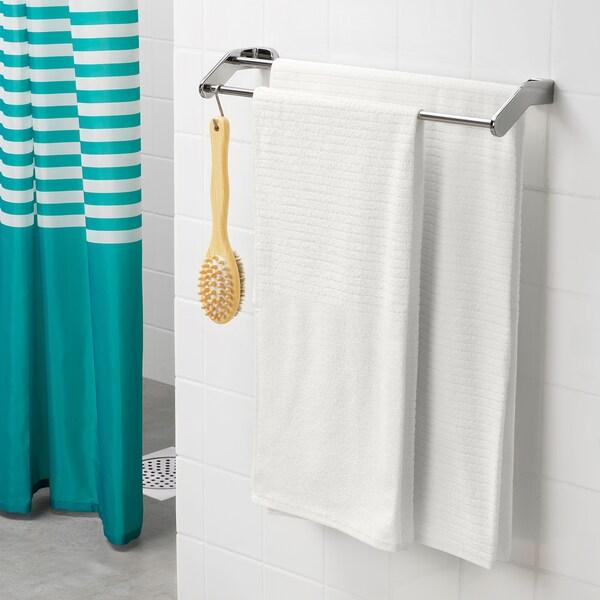 VÅGSJÖN Badehåndklæde, hvid, 100x150 cm