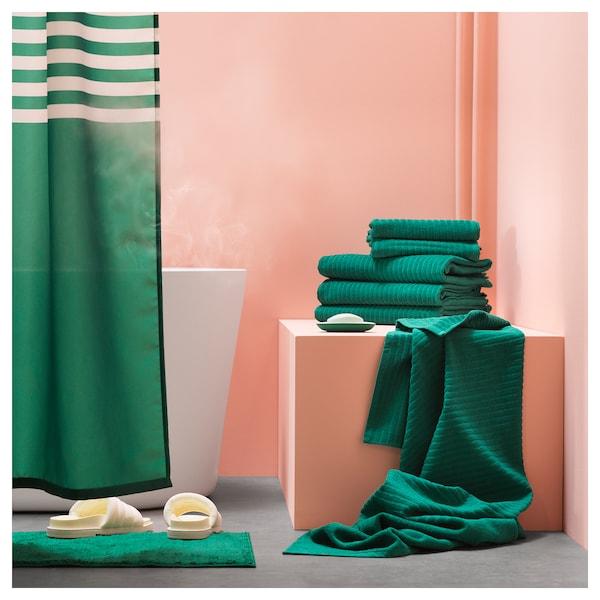 VÅGSJÖN badehåndklæde mørkegrøn 150 cm 100 cm 1.50 m² 400 g/m²