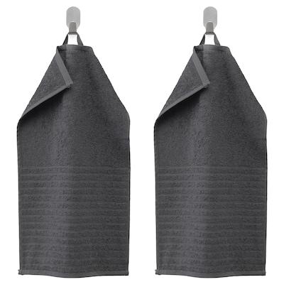 VÅGSJÖN Gæstehåndklæde, mørkegrå, 30x50 cm