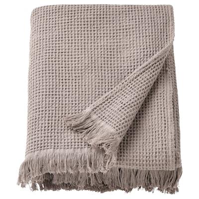 VALLASÅN Badehåndklæde, lysegrå/brun, 100x150 cm