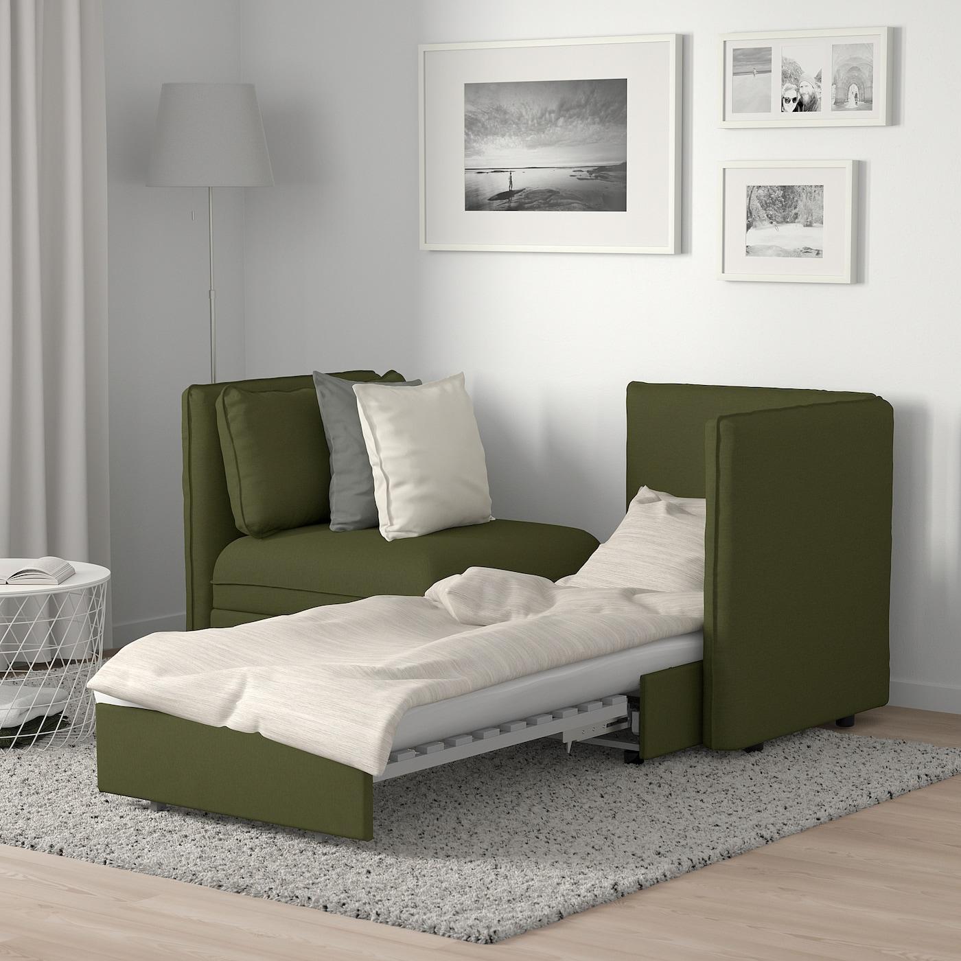 Vallentuna 2 Pers Modulopb Sofa Sovesofa Og Opbevaring Orrsta Olivengron Ikea