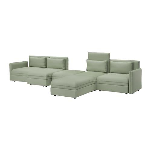 VALLENTUNA 5-pers. sofa med seng - Hillared grøn - IKEA