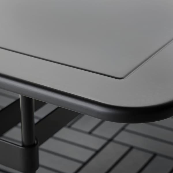 VIHOLMEN Bord+4 stole, ude, mørkegrå/mørkegrå