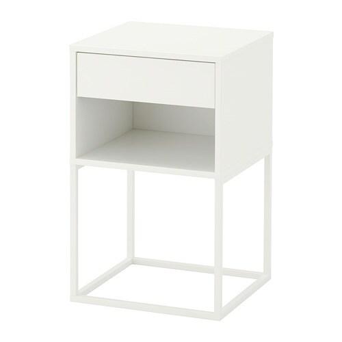 sengebord ikea VIKHAMMER Sengebord   hvid   IKEA sengebord ikea