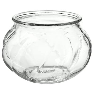 VILJESTARK Vase, klart glas, 8 cm