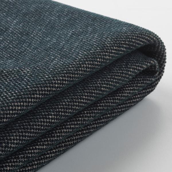 VIMLE Betræk til u-formet sofa, 6-pers., med åben ende/Tallmyra sort/grå