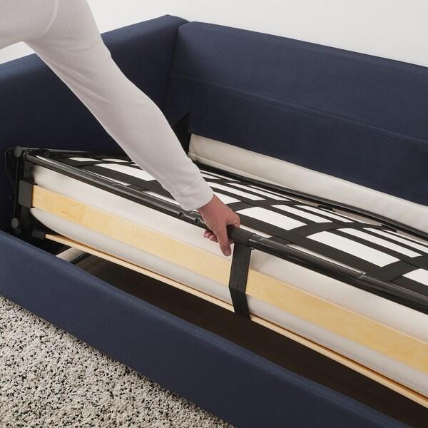 VIMLE 4-pers. hjørnesovesofa med åben ende/Orrsta sortblå 53 cm 83 cm 68 cm 98 cm 241 cm 235 cm 268 cm 55 cm 48 cm 140 cm 200 cm 12 cm