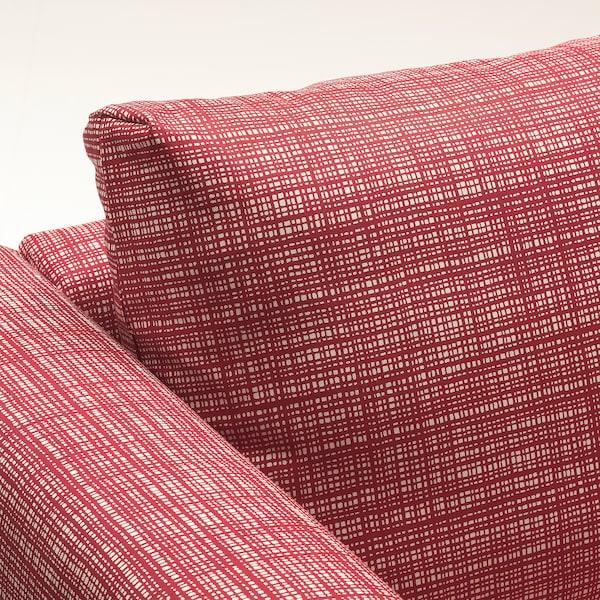 VIMLE U-formet sofa, 6 siddepladser, med åben ende/Dalstorp multifarvet
