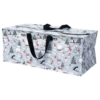 VINTER 2020 Opbevaringspose, dyremønster grå, 35x73x30 cm/76 l