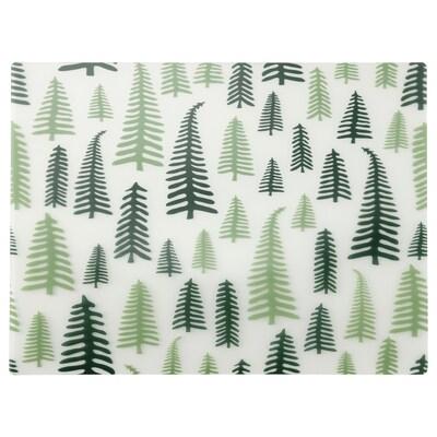 VINTER 2021 Dækkeserviet, træmønster hvid/grøn, 40x30 cm