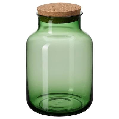 VINTER 2021 Glas med låg, grøn/kork, 2.5 l