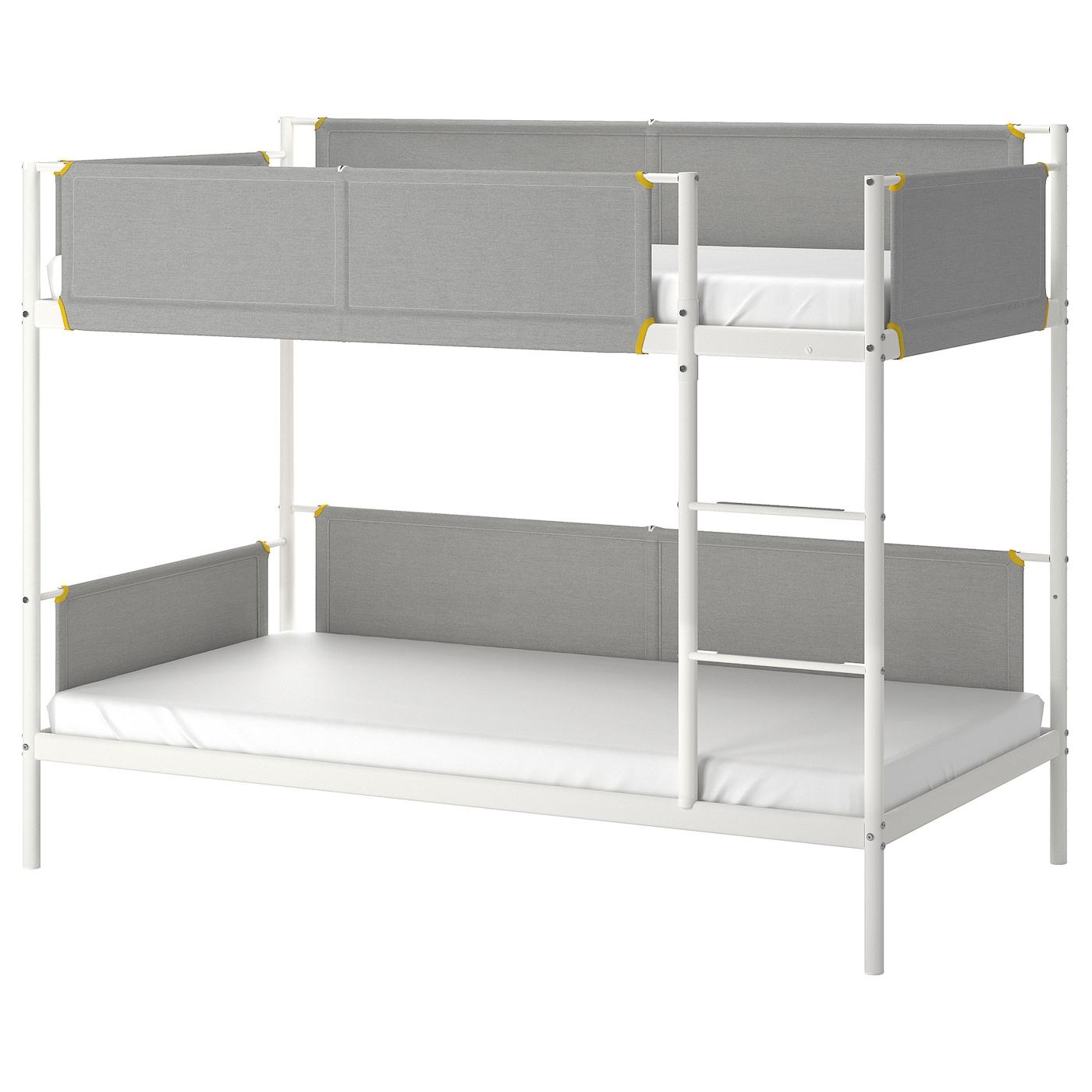 Picture of: Vitval Stel Til Kojeseng Hvid Lysegra 90×200 Cm Ikea