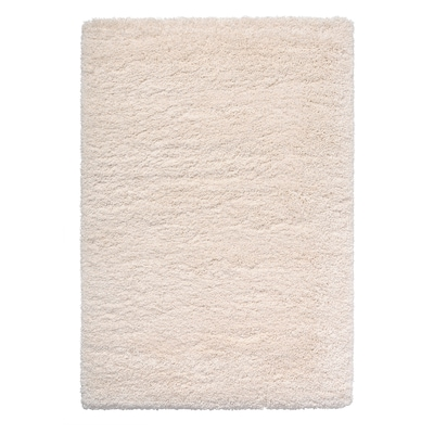 VOLLERSLEV Tæppe, lang luv, hvid, 133x195 cm