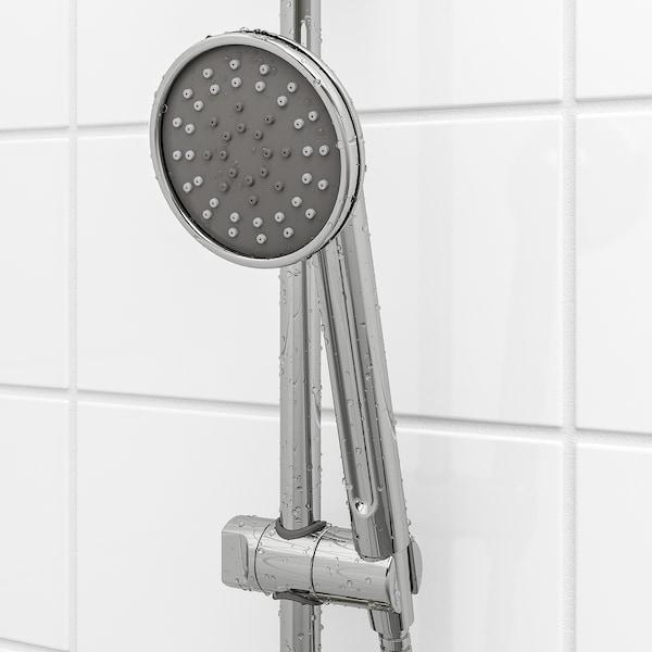 VOXNAN Hoved-/håndbrusersæt med omskifter, forkromet