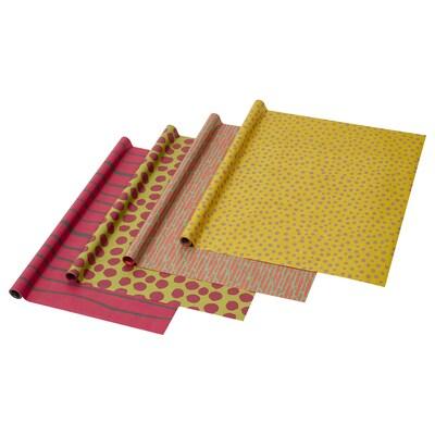 VURPA Gavepapir, forskellige farver/hånd Tegninger, 5.0x0.7 m