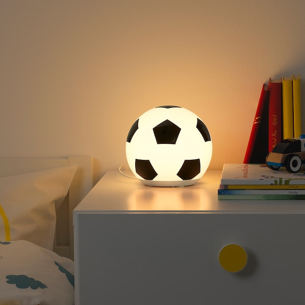 ÄNGARNA LED table lamp, football pattern