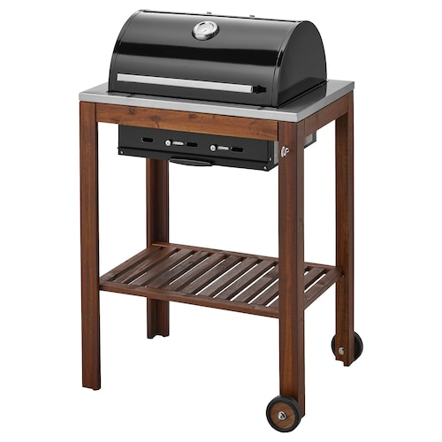 ÄPPLARÖ / KLASEN charcoal barbecue brown stained 77 cm 58 cm 109 cm