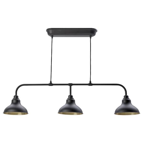 AGUNNARYD مصباح معلق مع 3 مصابيح, أسود