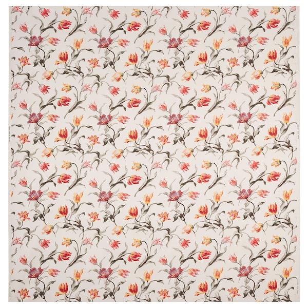 ÅLANDSROT Fabric, natural/floral patterned, 150 cm