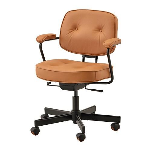 Alefj 196 Ll Office Chair Grann Golden Brown Ikea