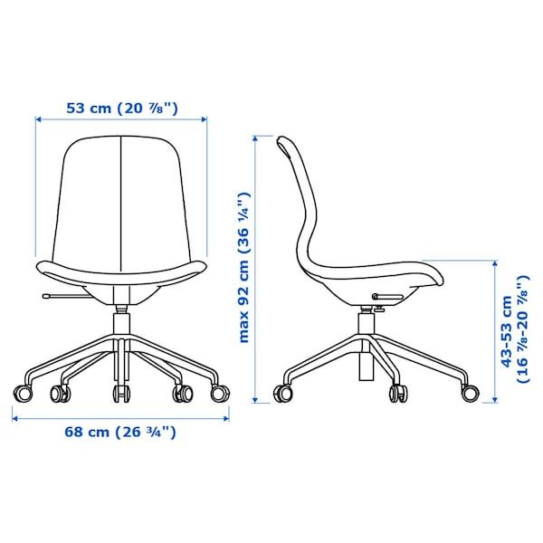 ALEX/LÅNGFJÄLL / KALLAX Desk and storage combination, and swivel chair grey-turquoise/black