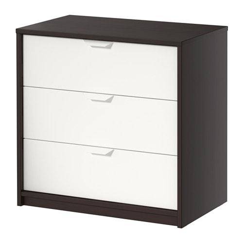 askvoll chest of 3 drawers smooth running drawers with pull out stop