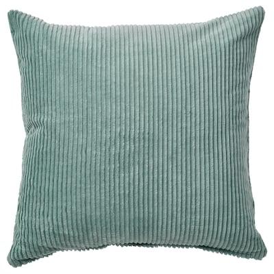 ÅSVEIG غطاء وسادة, رمادي- تركواز, 50x50 سم