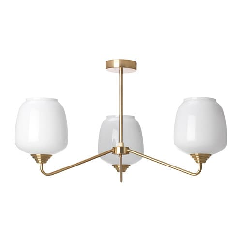 Återsken ceiling lamp with 3 lamps  ikea