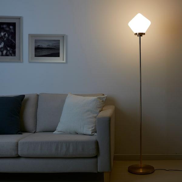 ÅTERSKEN اضاءة ارضية, أبيض أوبال زجاج