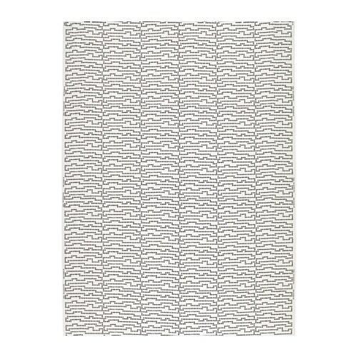 AVSIKTLIG Fabric, dotted, white/black
