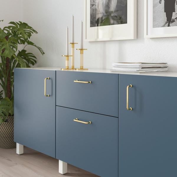 BAGGANÄS Handle, brass-colour, 143 mm