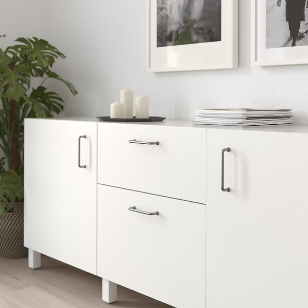 BAGGANÄS Handle, stainless steel, 143 mm