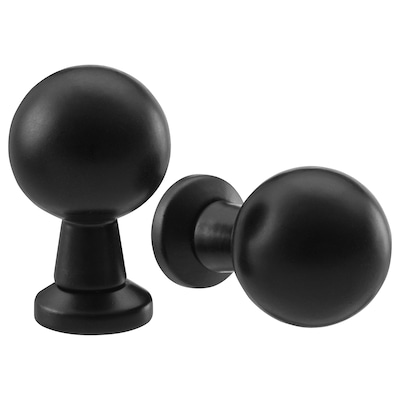 BAGGANÄS Knob, black, 20 mm