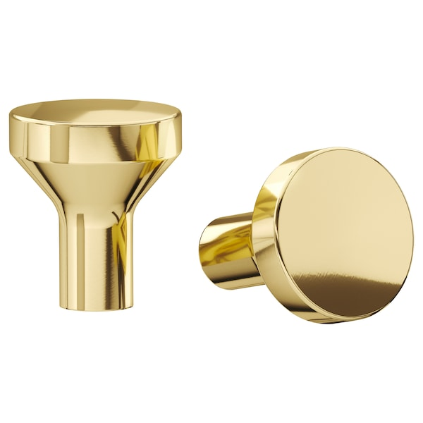 BAGGANÄS Knob, brass-colour, 21 mm