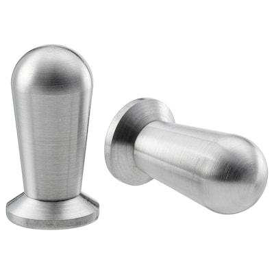 BAGGANÄS Knob, stainless steel, 13 mm