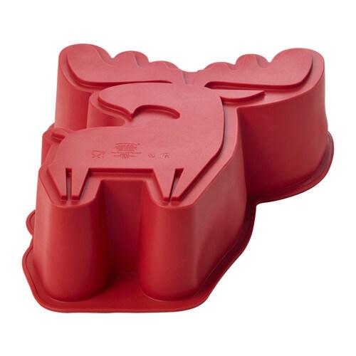 BAKGLAD Baking mould, elk-shaped red