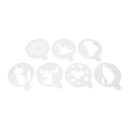 BAKGLAD Stencil, assorted patterns white