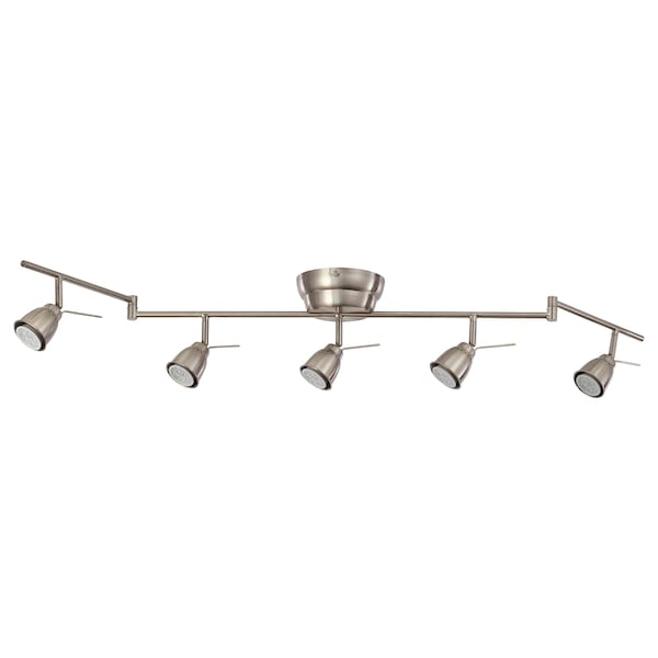 BAROMETER Ceiling track, 5-spots, nickel-plated