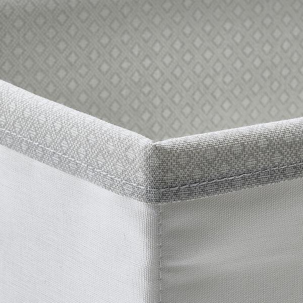 BAXNA منظم, رمادي/أبيض, 17x20x6 سم