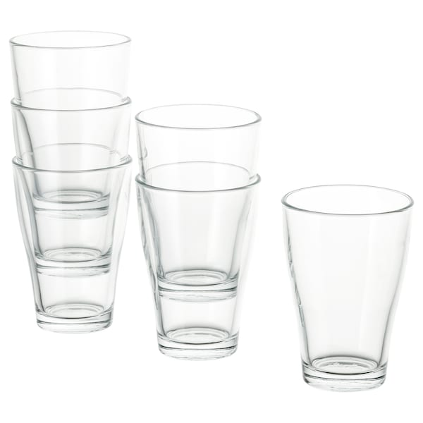 BEHÄNDIG glass clear glass 12 cm 30 cl 6 pack
