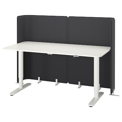 BEKANT مقعد/كرسي مكتب استقبال, أبيض, 160x80 120 سم