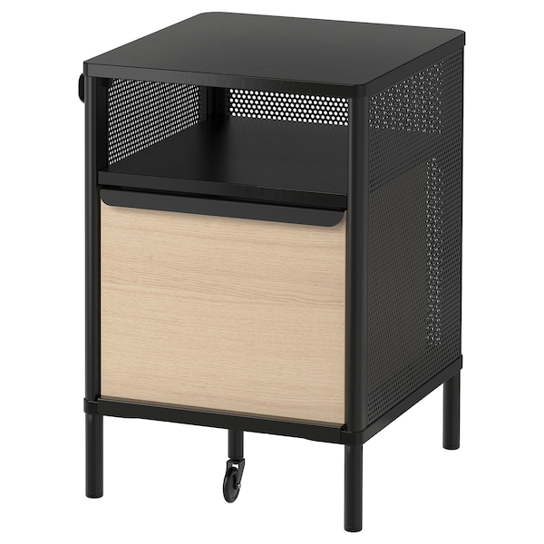 BEKANT Storage unit on legs, mesh black, 41x61 cm