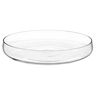 BERÄKNA Bowl, clear glass, 26 cm