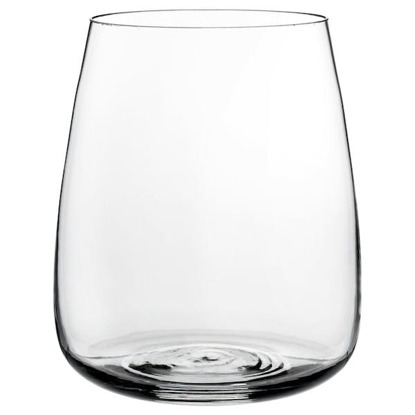 BERÄKNA Vase, clear glass, 18 cm
