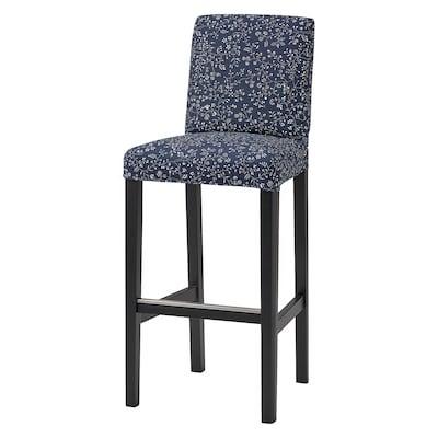 BERGMUND Cover for bar stool with backrest, Ryrane dark blue