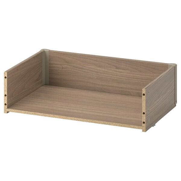 BESTÅ Drawer frame, grey stained walnut effect, 60x15x40 cm