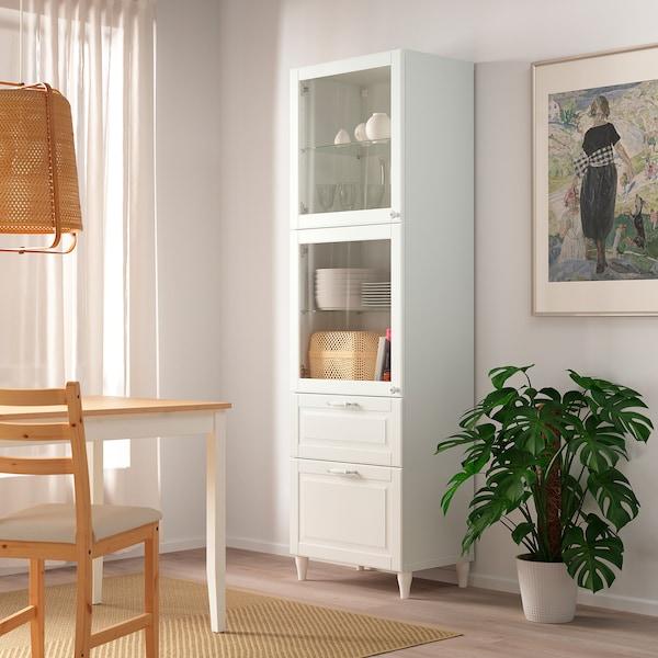 BESTÅ اطار, أبيض, 60x40x192 سم