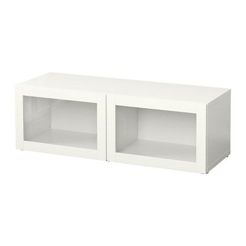 Besta Shelf Unit With Glass Doors Sindvik White